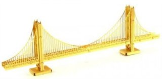 METAL EARTH 3D puzzle Most Golden Gate (zlatý)