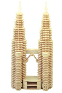WOODEN TOY / WCK 3D puzzle Petronas Twin Towers