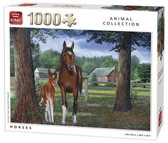 KING Puzzle Koně 1000 dílků