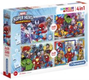 Puzzle Marvel Super Hero Adventures 4v1 (20,20,60,60 dílků)